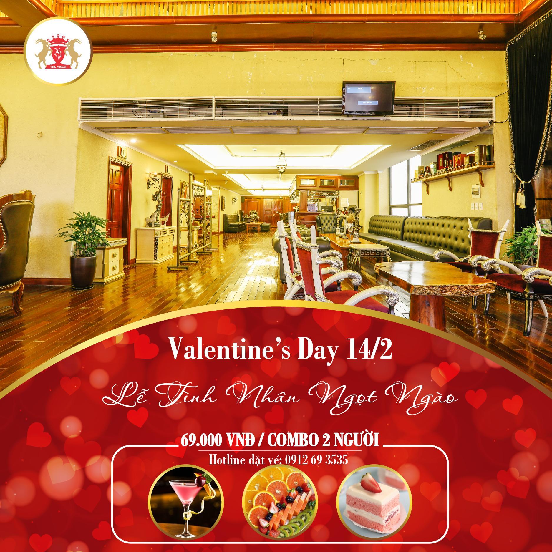 Valentine tại Khách sạn Vissai - Lễ tình nhân ngọt ngào